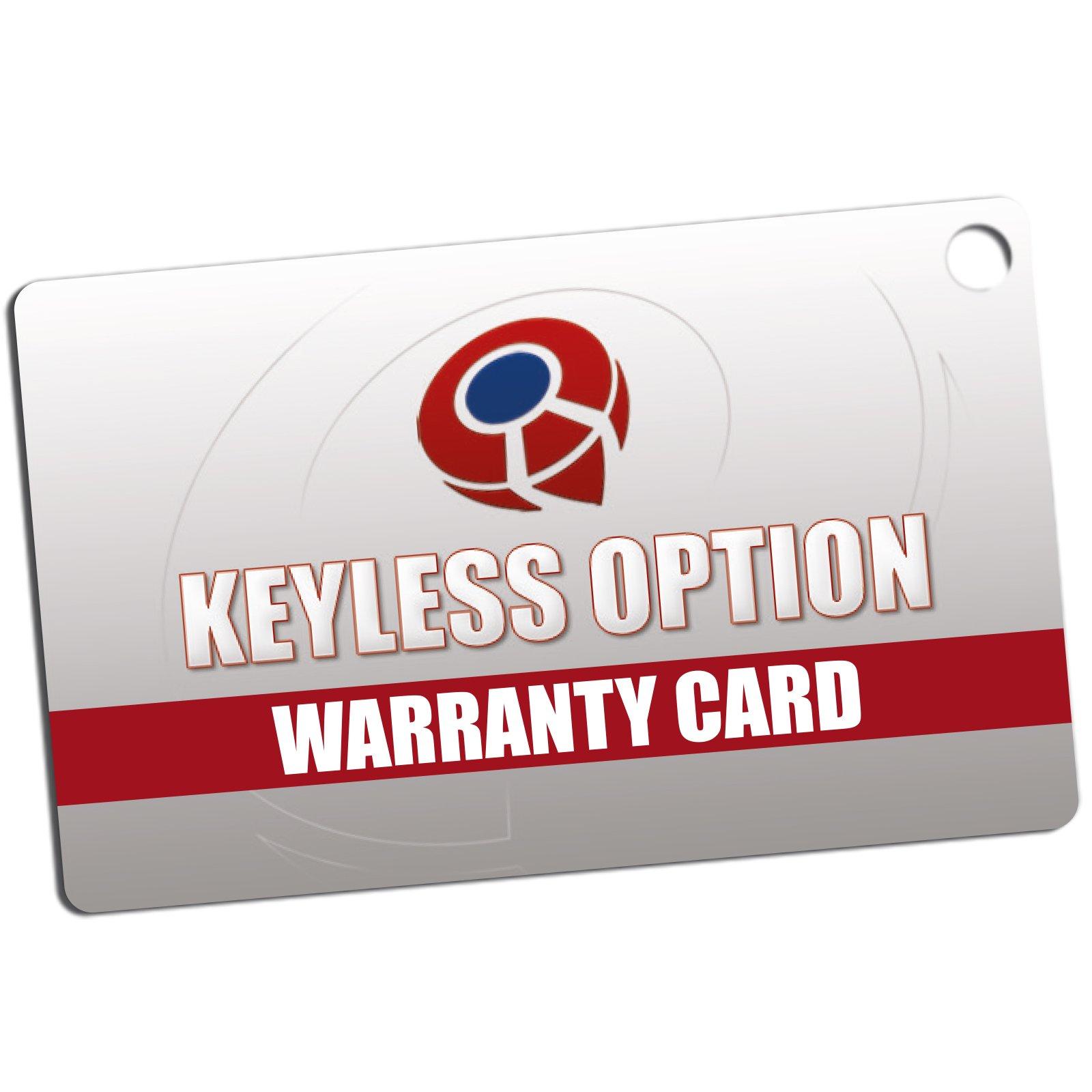 KeylessOption Keyless Entry Remote Control Car Key Fob Replacement 15913415 -Blue by KeylessOption