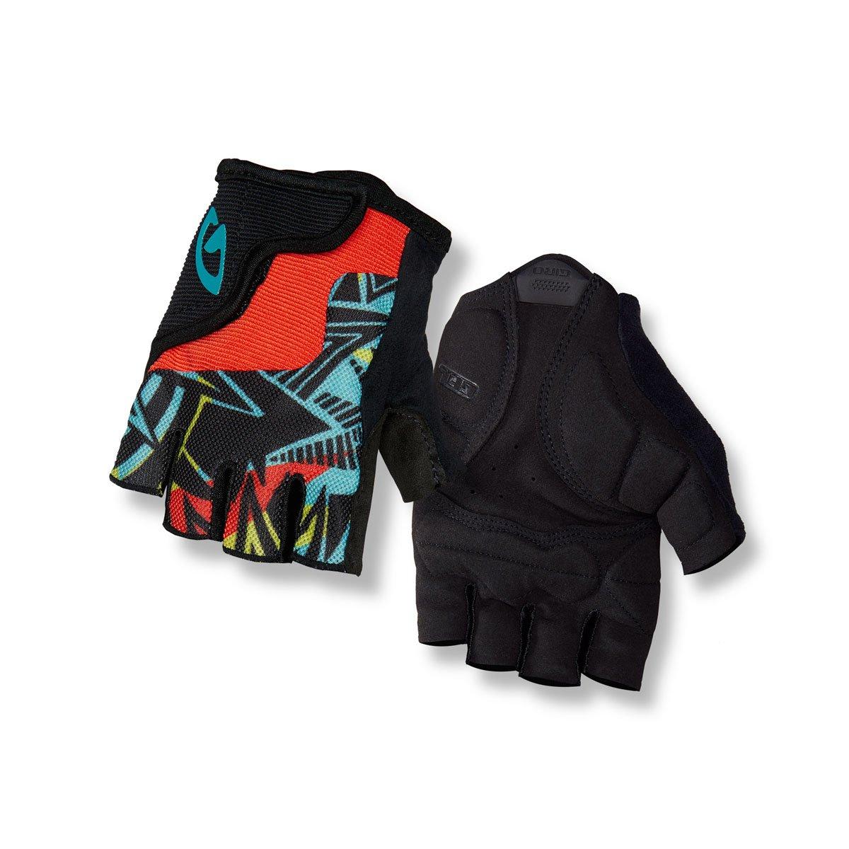 Size L Giro Bravo Junior Childrens Cycling Gloves Short Black//blue//red 2018