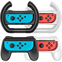 TiMOVO Grip & Steering Wheel for Nintendo Switch OLED Model 2021 / Switch Joy-Con, 2-Pack Mario Kart Racing Wheel & 2…