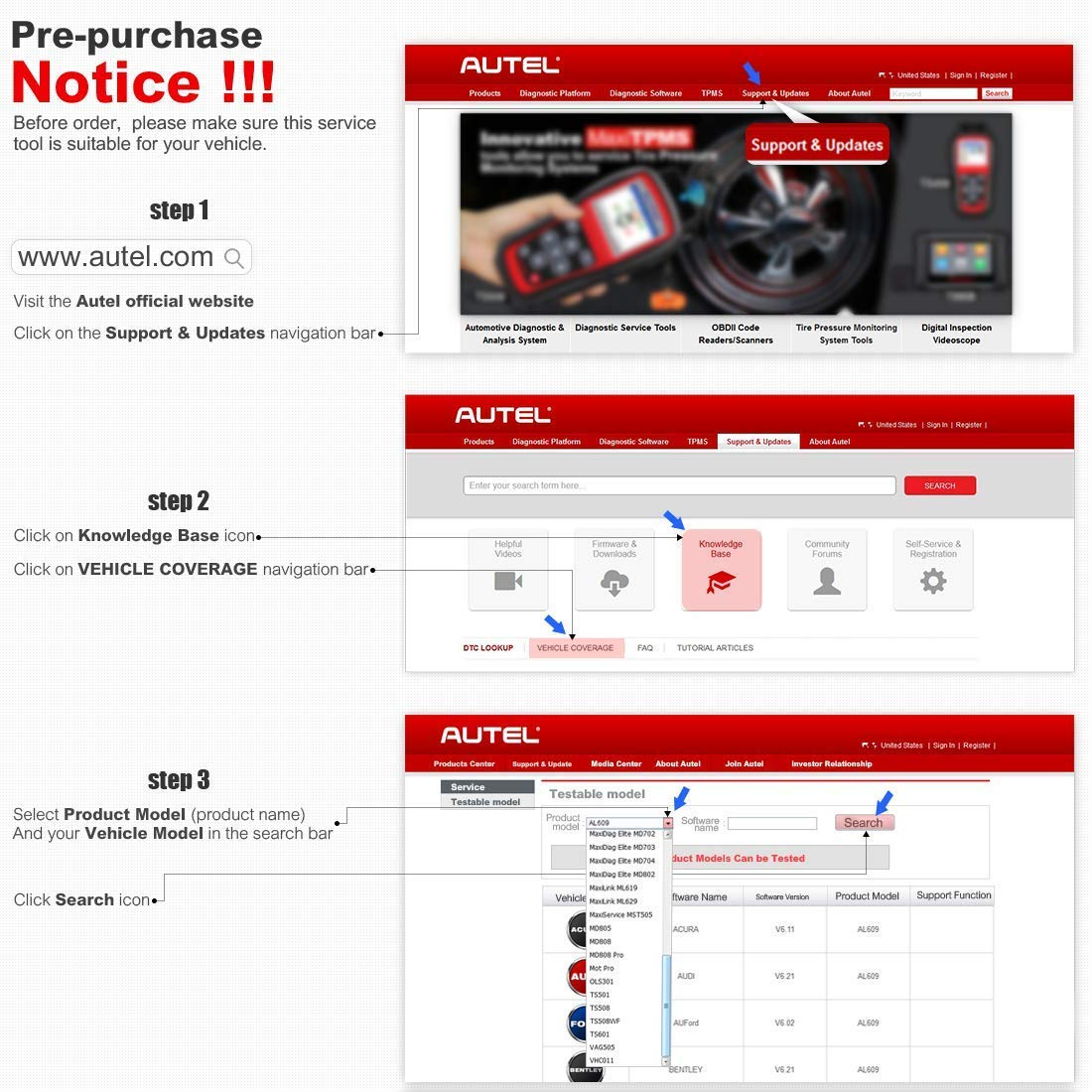 Autel AutoLink AL619 OBD2 Scanner ABS/SRS Diagnostic Scan Tool,Turns Off Engine Light (MIL) and ABS/SRS Warning Lights,Same Function as The ML619 Code Reader by Autel (Image #6)
