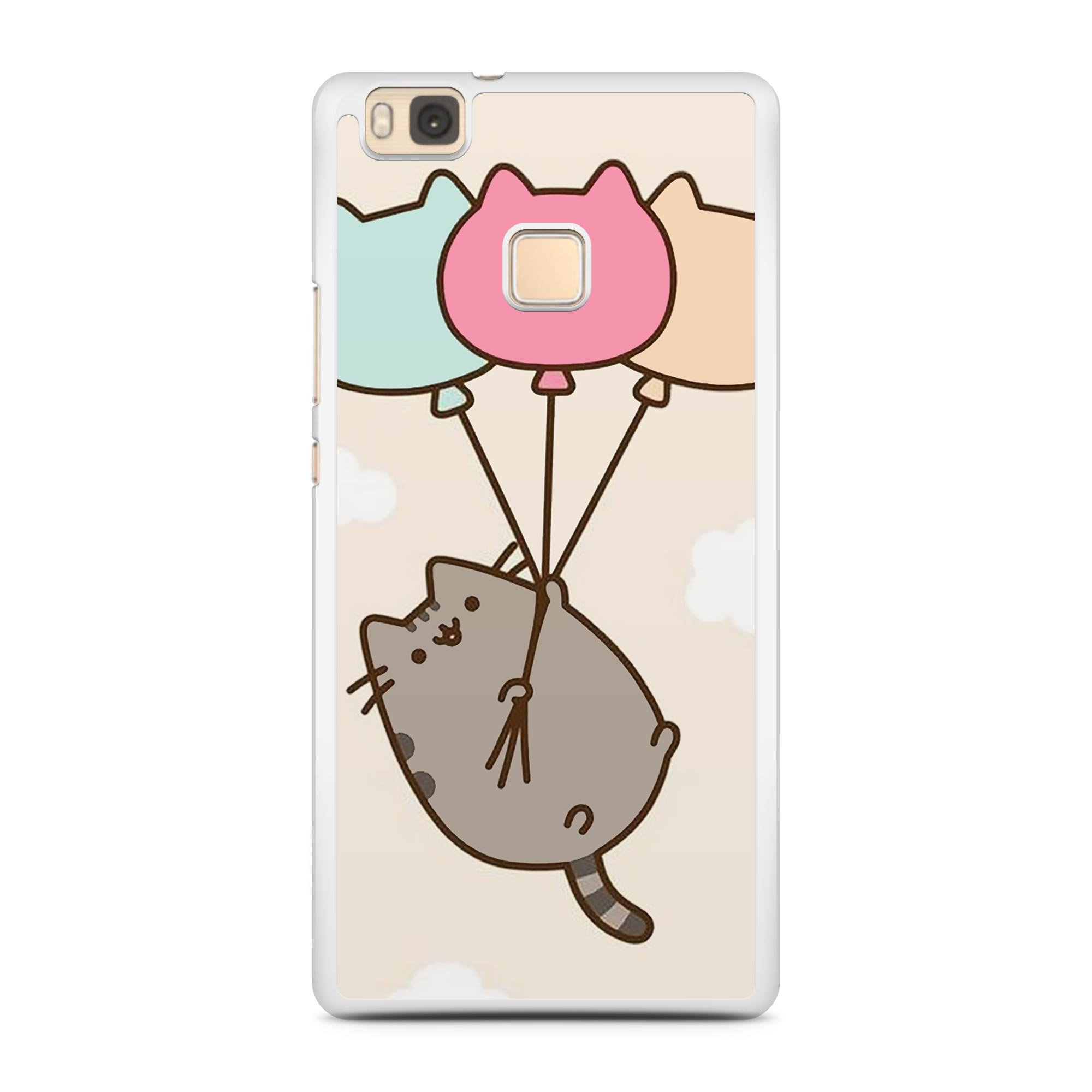 PUSHEEN BALLOON CAT HARD PHONE CASE COVER FITS ALL for 2D Huawei ...