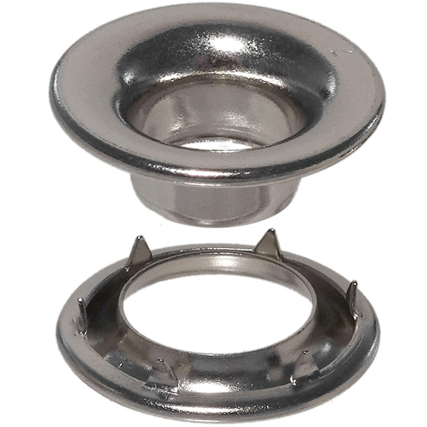 Stimpson Stainless Steel Rolled Rim Grommet and Spur Washer 304 Reliable, Durable, Heavy-Duty #2 Set E-Series (500 Pieces of Each)