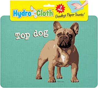 product image for Fiddler's Elbow Hydro Cloth Dog Breed Dishcloths   Set of 2   Eco-Friendly Dish Cloths   Paper Towel Replacements (French Bulldog)