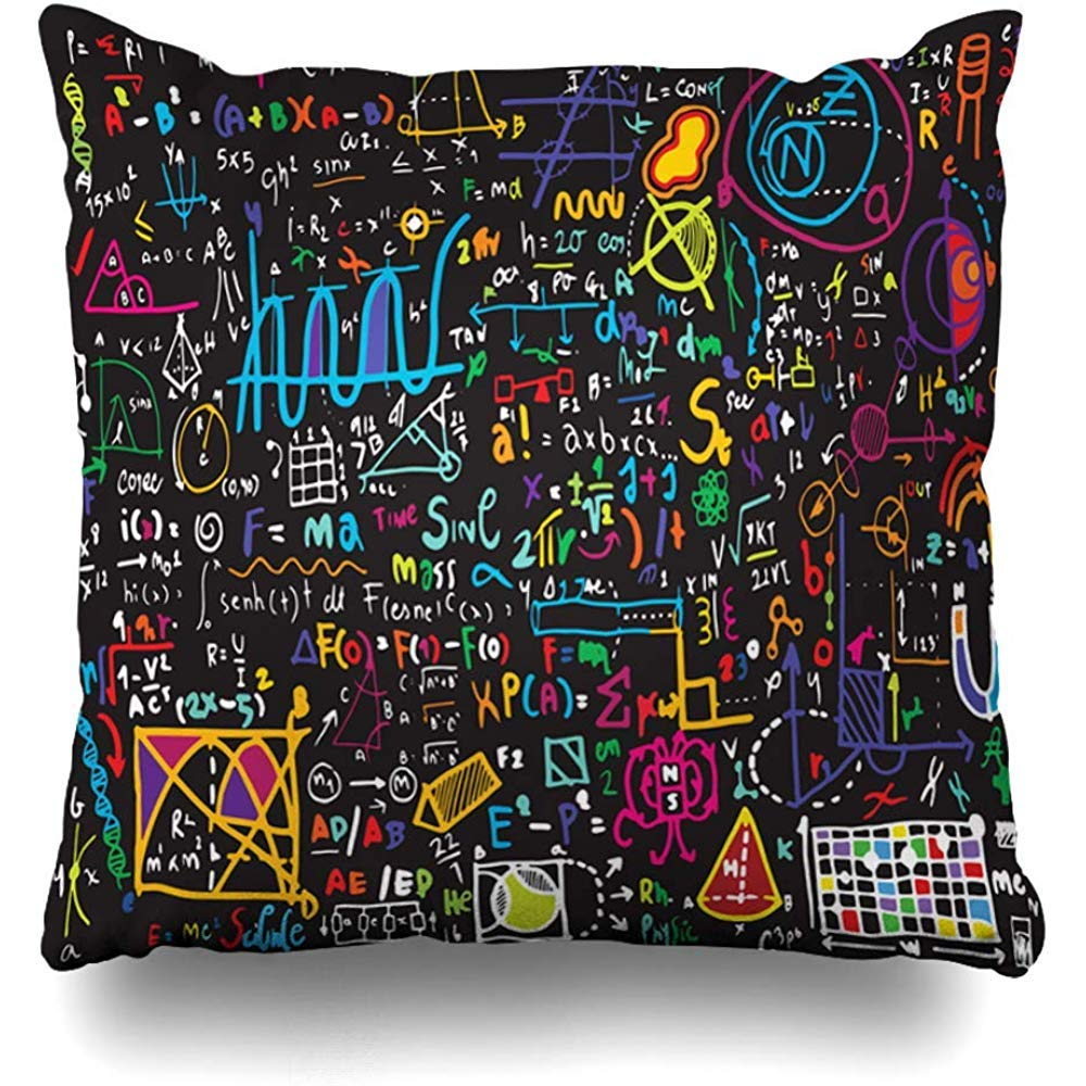 Amazon.com: Starosept Throw Pillow Cover Math Green Physical ...