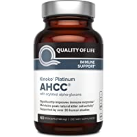 Premium Kinoko Platinum AHCC Supplement – 750mg of AHCC per Capsule – Supports Immune...