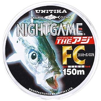 ユニチカ(UNITIKA)ラインナイトゲームザ・アジFC150mナチュラルクリアー2LBナチュラルクリアーの画像