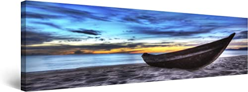 Startonight Canvas Wall Art Boat on The Beach