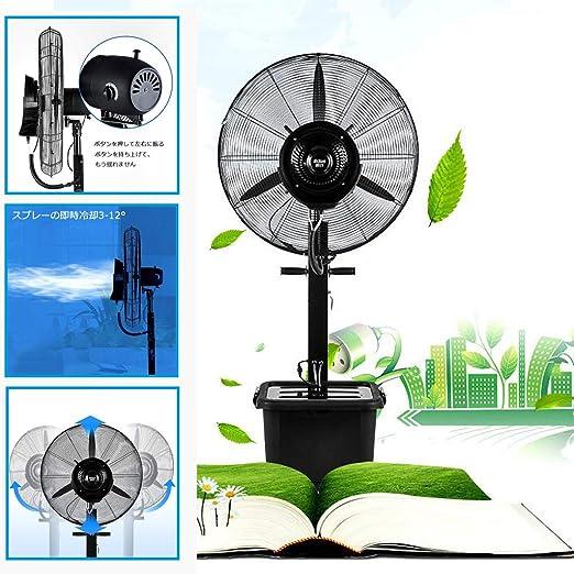 Ventilador de pie cromado, kit de nebulización de ventilador para ...