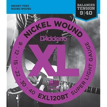 d addario xl nickel wound electric guitar strings super light balanced tension. Black Bedroom Furniture Sets. Home Design Ideas