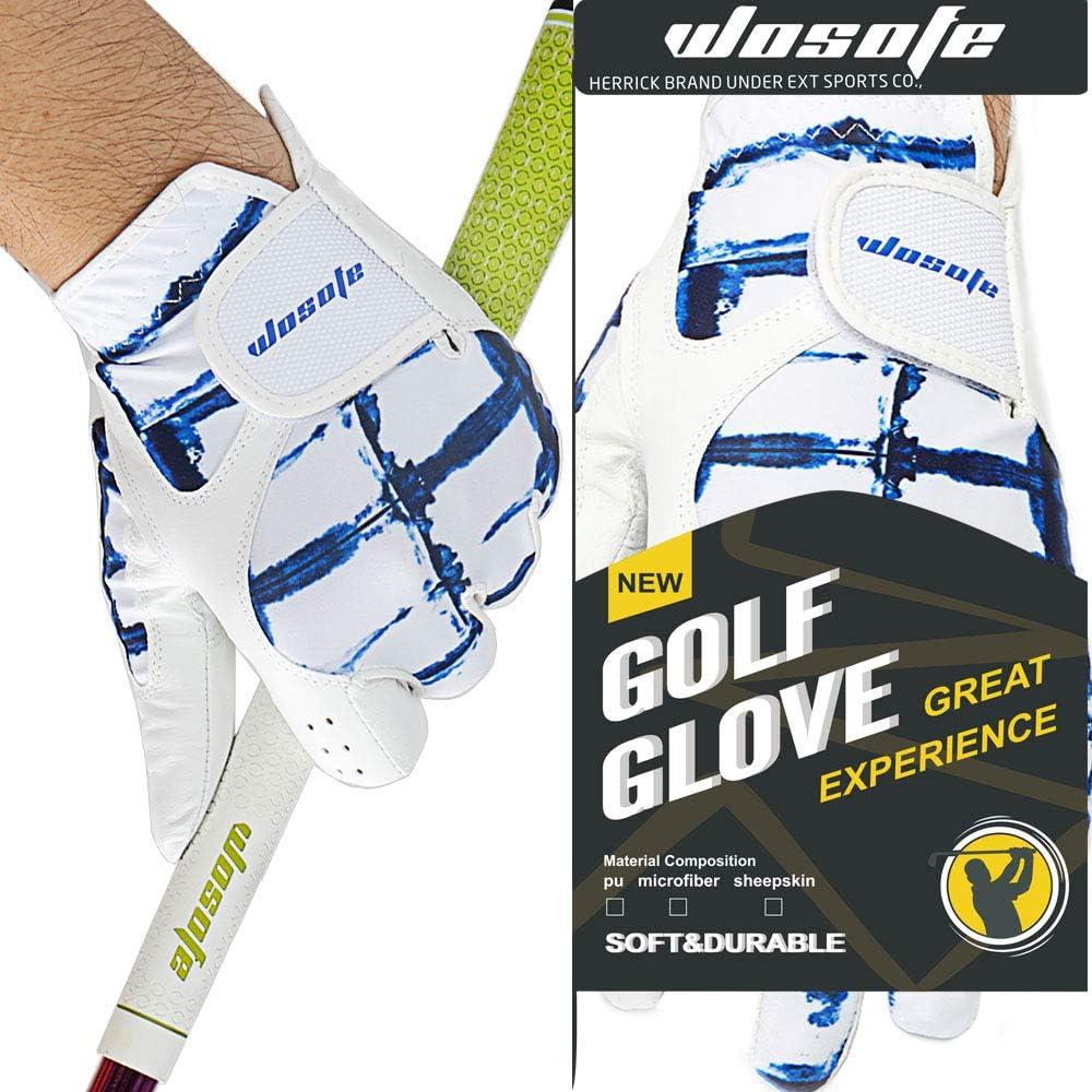 Amazon.com: Wosofe - Guantes de golf para hombre, piel suave ...