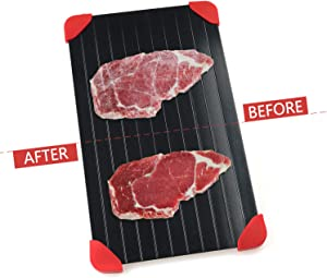 PENGUIN FAMILY Thawing Plate for Frozen Foods Aviation Aluminum Safe Material Thaw Faster No Electricity No Chemicals No Microwave Non-stick Defrosting Tray