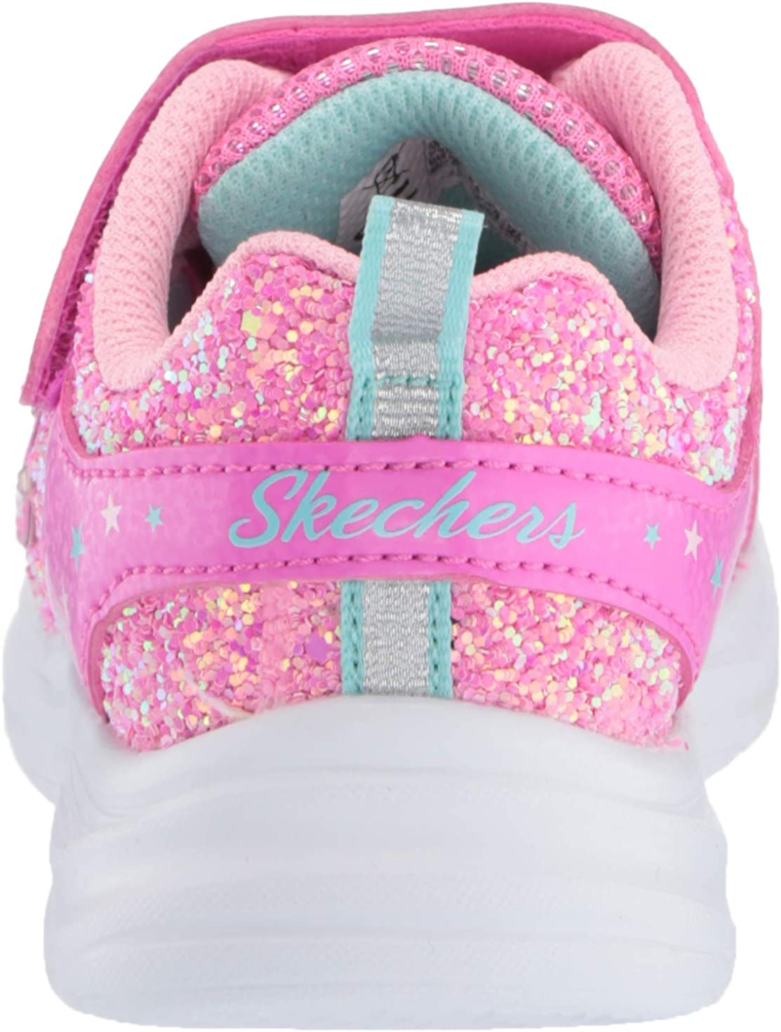 Skechers Move 'N Groove Sparkle Spinner, Baskets Fille Rose Vif Rose