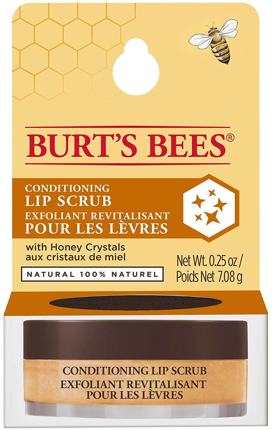 Burt's Bees 100 Percentage Natural Conditioning Lip Scrub with Exfoliating Honey Crystals, 7.08 g Burt's Bees 90213-14