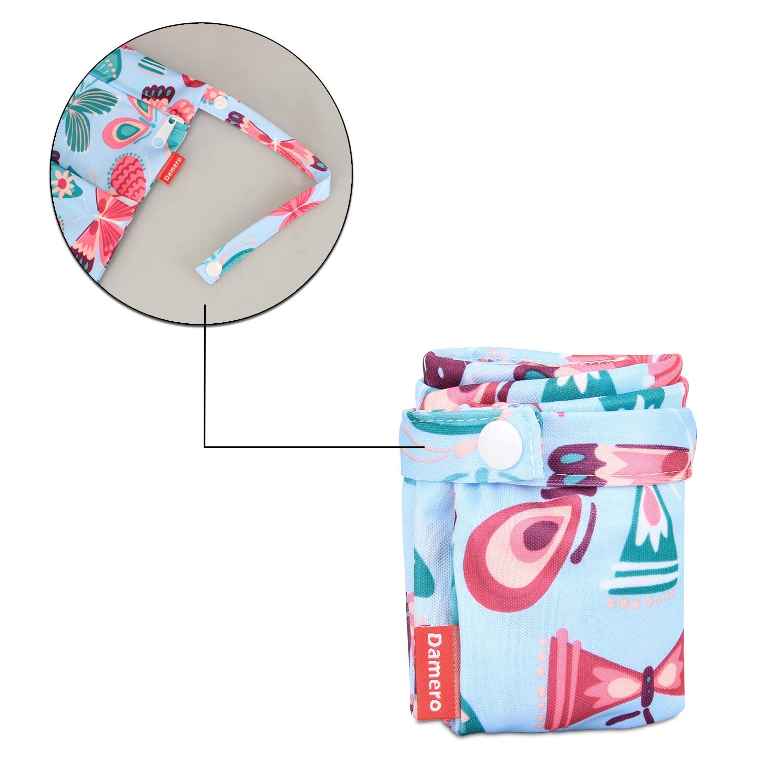 Small+Large,Unicorn Damero 2Pcs Cute Travel Baby Wet and Dry Cloth Diaper Organizer Bag