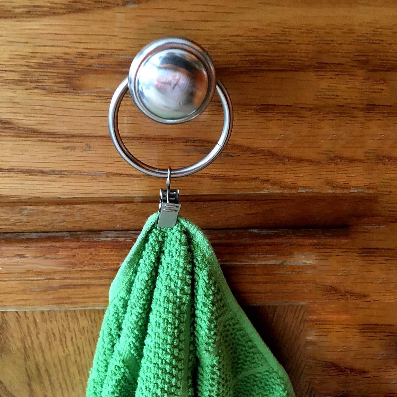 salle de bain sadapter /à 1 1//4 pouce Rod Coideal ensemble de 30 anneaux de Rideau en bronze avec clips//Heavy-Duty d/écoratif m/étal drap/é clip crochets ensemble avec /œillets pour rideaux