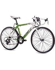 """24"""" RENNRAD JUGENDRAD Fahrrad KCP RUNNY ALU mit 14G Shimano Weiss grün - 61,0 cm (24 Zoll)"""
