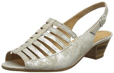 Gabor Coupar, Damen Sandalen, Beige (Taupe Metallic Leather), 39 EU ... d4d42c2201