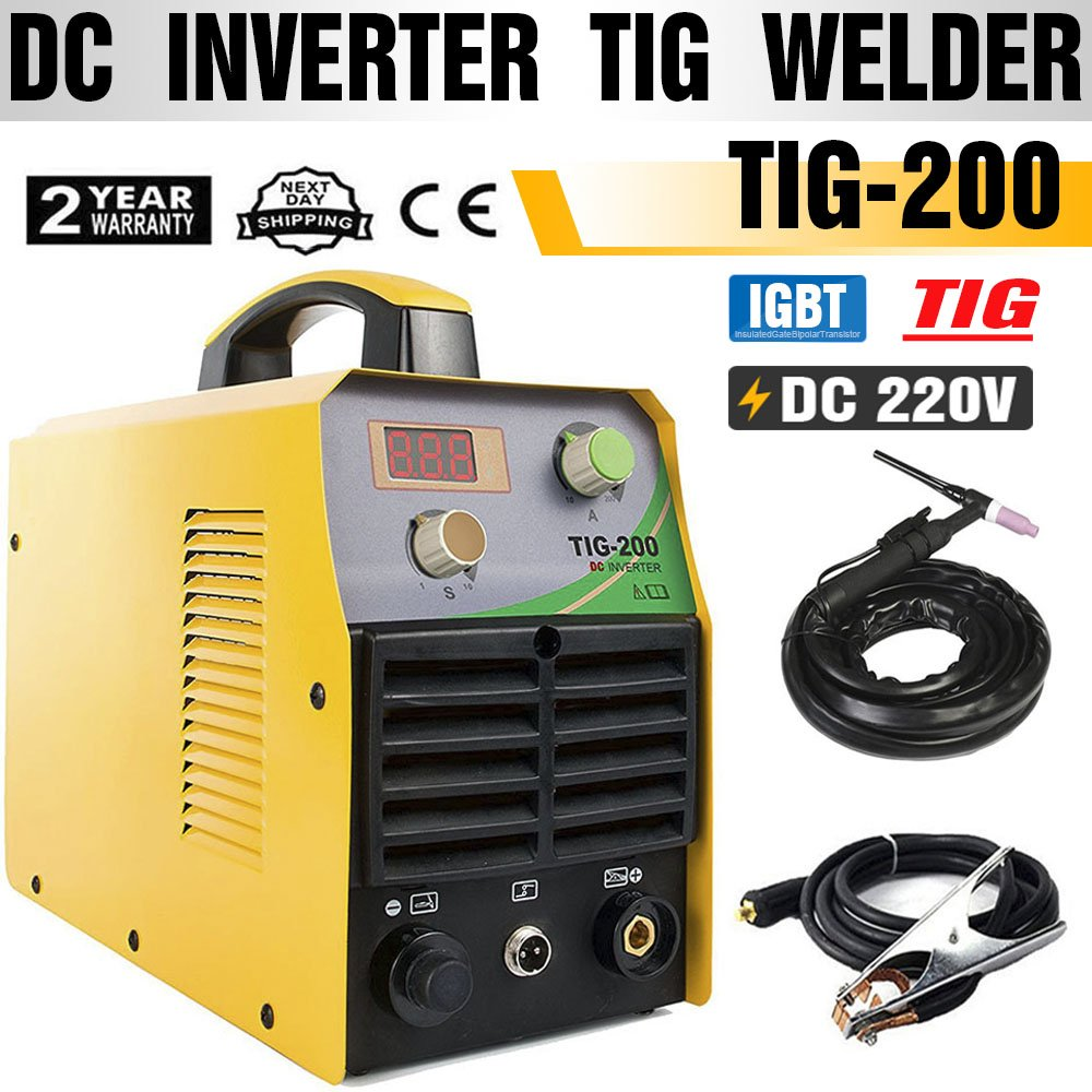 TOSENBA TIG Welder TIG Welding Machine 200Amp 220V DC IGBT Inverter Digital  Display Portable Tig200 - - Amazon.com
