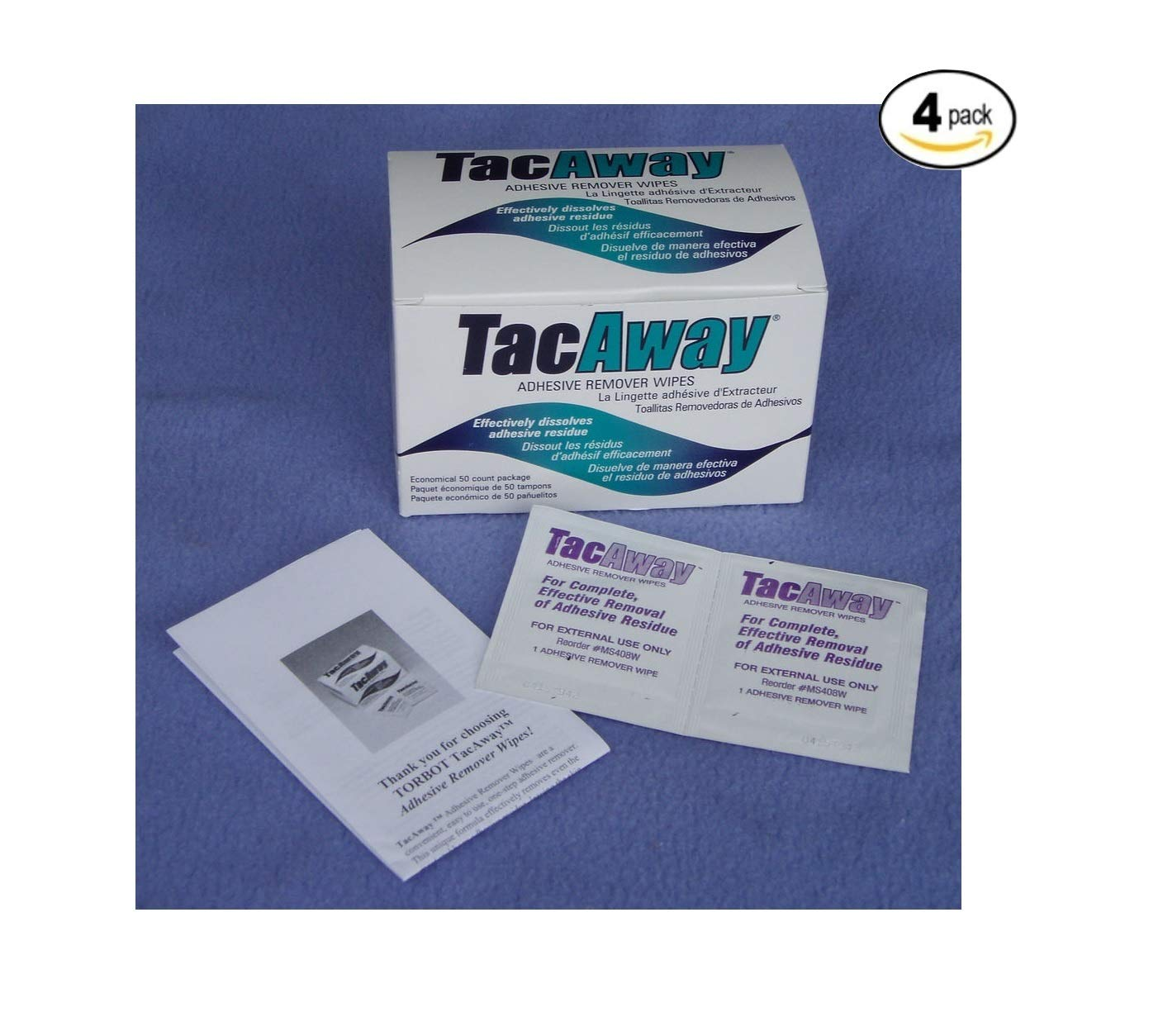 Skin-Tac-H Adhesive TacAway Remover Wipes, 50 count Torbot Group Inc. No Model
