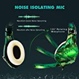 TURN RAISE Upgraded Gaming Headset with Mic for