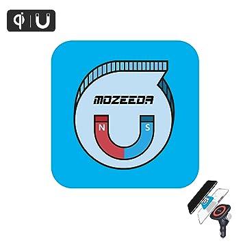Imán de Thin parche para teléfono celular, mozeeda Universal 0,8 mm magnético inteligente QI para Cargador inalámbrico y magnético Teléfono Car Mount ...