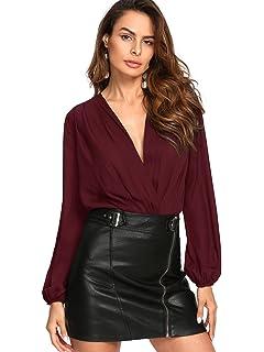 d11cbda292b Amazon.com: Ytwysj Women Sexy V Neck Rose Gold Sequin Mesh Long ...