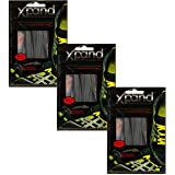 Xpand No Tie Shoelaces System with Elastic Laces - One Size Fits All Adult and Kids Shoes (Pack of 3)