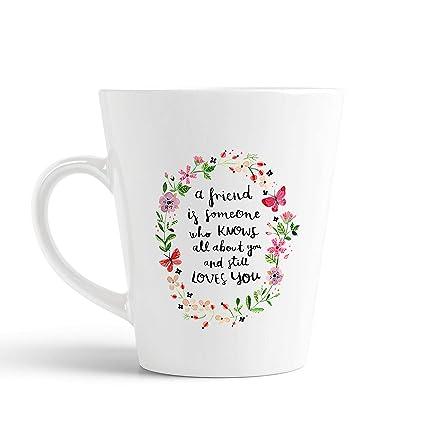 buy ikraft friendship quotes conical coffee mug ml coffee mug