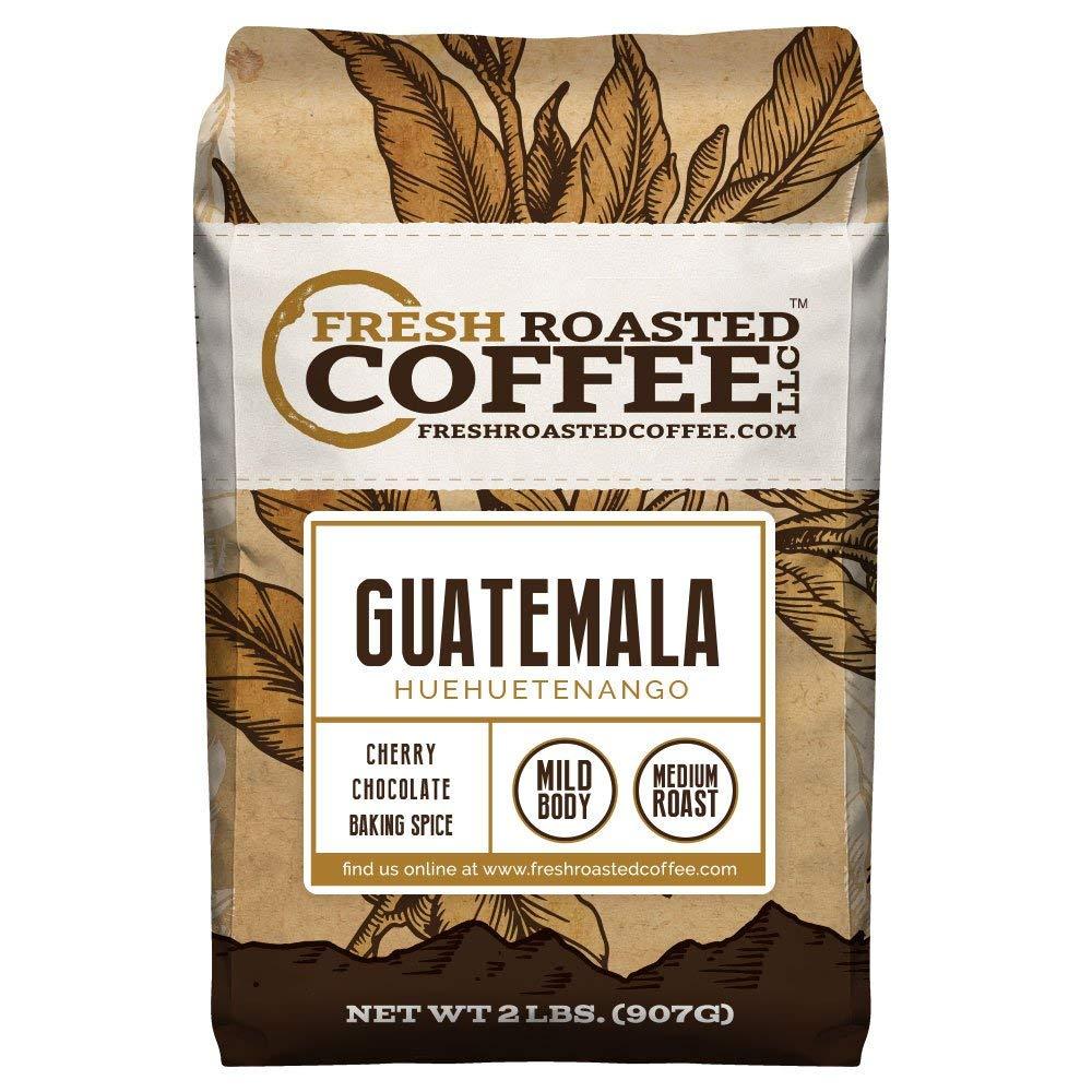 Guatemala Huehuetenango Coffee, Whole Bean, Fresh Roasted Coffee LLC (2 lb.) by FRESH ROASTED COFFEE LLC FRESHROASTEDCOFFEE.COM