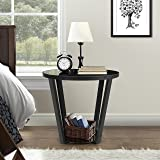 Lifewit Side Table Round Nightstand Couch End Table Snack Coffee Desk, Black