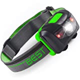 Best 120 Lumen Waterproof LED Headlamp with 4-Modes (White & Red LEDs)