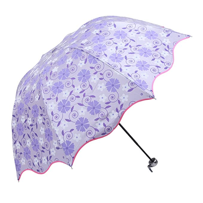 Amazon.com : Reinhar Purple Rain Folding Umbrellas Women With UV Protection Regenschirm Paraguas Plegable Beach Sun Waterproof Umbrella Fabric Blue : Sports ...
