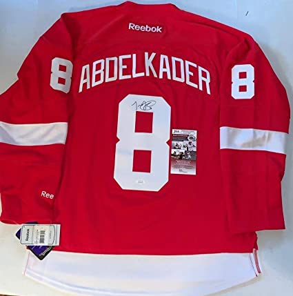 Justin Abdelkader Autographed Jersey - Reebok Premier - JSA Certified -  Autographed NHL Jerseys 66781ae58