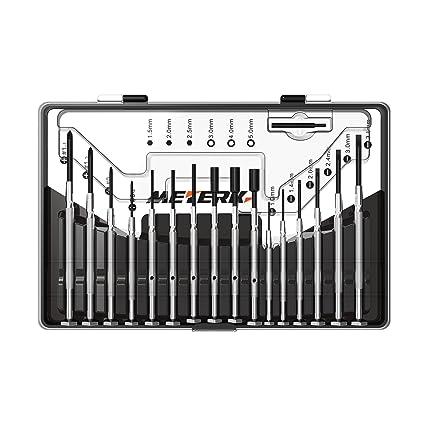 Meterk 16pcs Destornillador de precisión Juego de herramientas profesionales con Caja de almacenamiento para iPad iPhone
