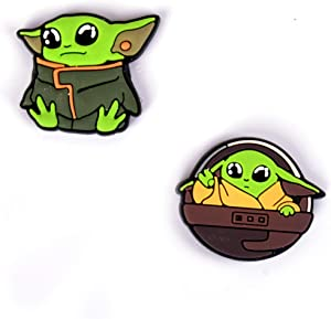 Small Fridge Magnets set 2 Baby Yoda Refrigerator magnets Cute and Tiny The Mandalorian magnets - Small Decorative magnets for Kitchen Locker School Classroom - Office Whiteboard Magnets -Funny Magnet