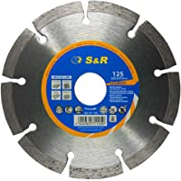 S&R Diamantsnijschijf standaardsegment, voor UNIVERSAL, lasergelast, droog gesneden (diameter 125 mm)
