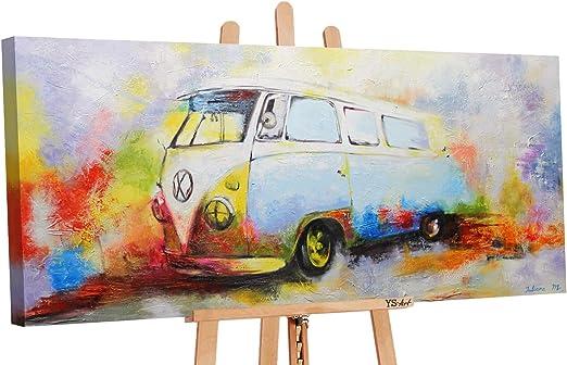 Ys Art Acryl Gemalde Nostalgie Handgemalt 115x50cm Wand Bild
