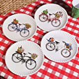 "Summer Bikes 9"" Melamine Plates, Set of 4"