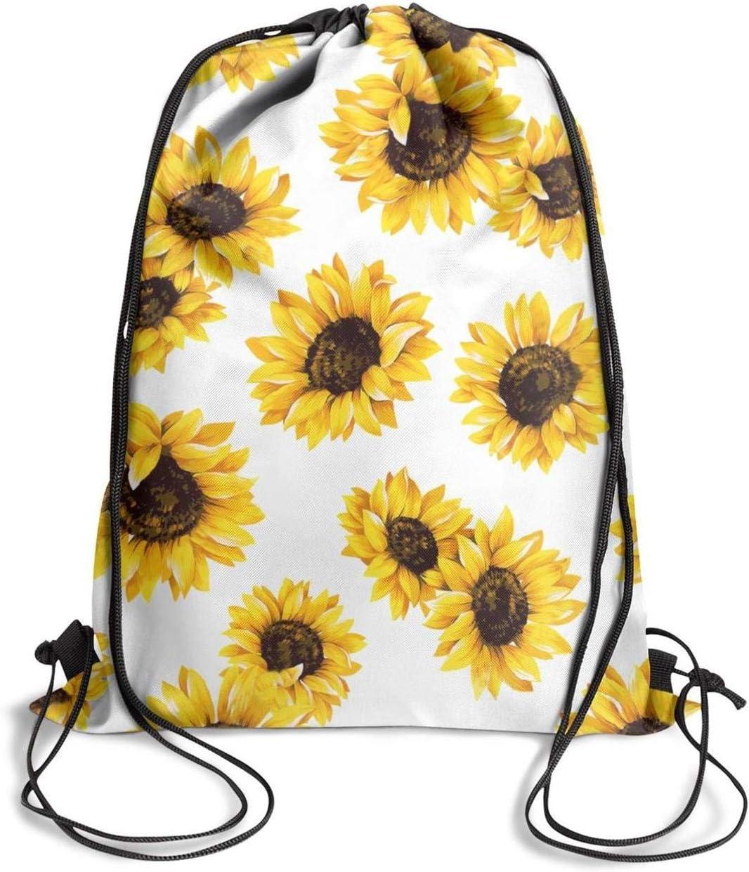 GymSack Drawstring Bag Sackpack Flower Sport Cinch Pack Simple Bundle Pocke Backpack For Men Women