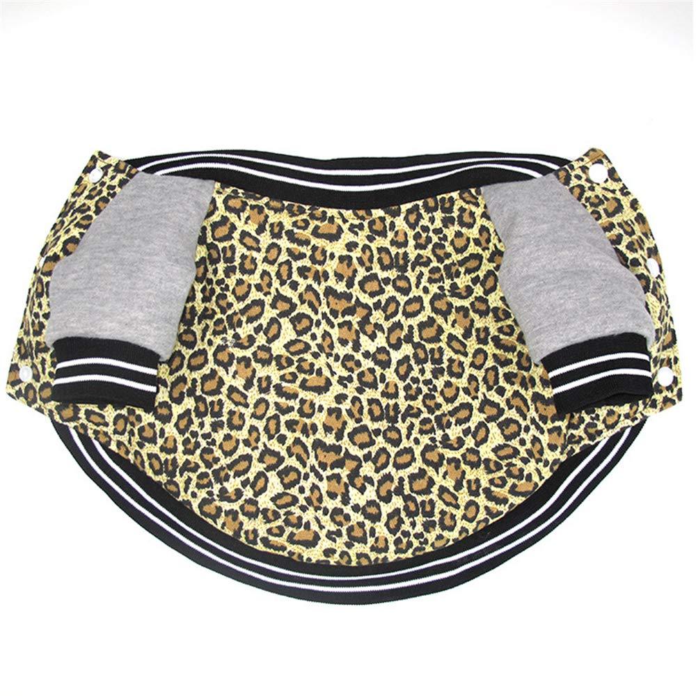 Leopard grain S Leopard grain S MaxTide Winter Puppy Jacket for Small Dogs Warm Coat Sweater Two Legs Pet Clothes for Dog (Leopard Grain-S)
