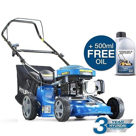 Hyundai 99cc 4-Stroke Petrol Lawn Mower 40 Centimeter / 400 Millimetre Cutting Width Push Rotary HYM400P-2