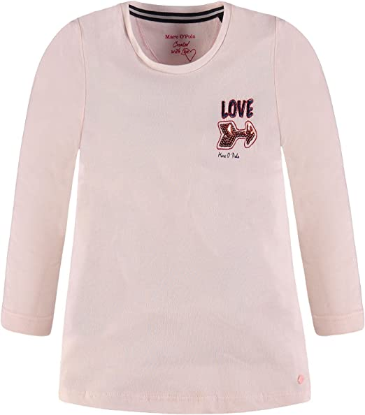 Marc O Polo Kids T-Shirt 1/1 Arm Camiseta de Manga Larga, Rosa ...