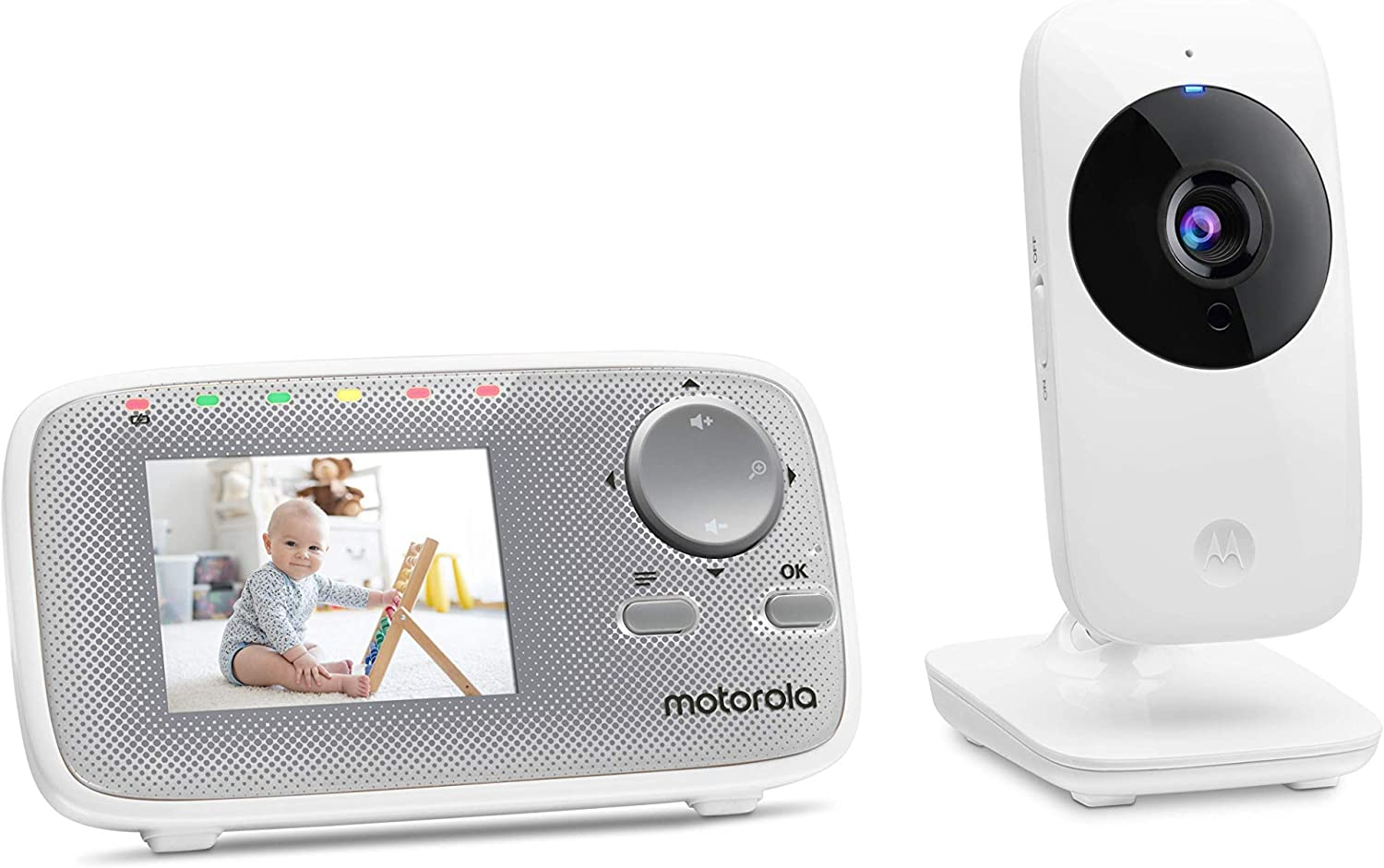 Motorola MBP29A Video Baby Monitor with 2.4 Inch Handheld Parent Unit and Infared Night Vision /& Digital Zoom