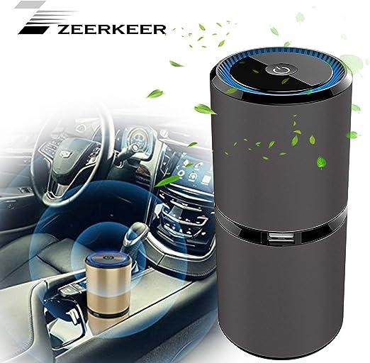ZEERKEER purificador de aire ionizador de coche, elimina el polvo ...