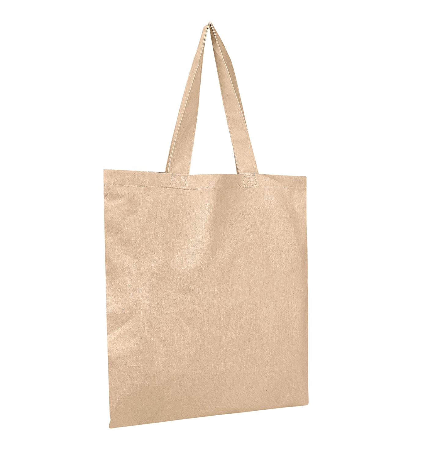 0766ee7f3 Amazon.com: BagzDepot Canvas Tote Bags Wholesale - 12 Pack - Grocery Cotton  Tote Bags in Bulk, Reusable Bags for Decorating Crafts Blank Canvas Bags  Events ...