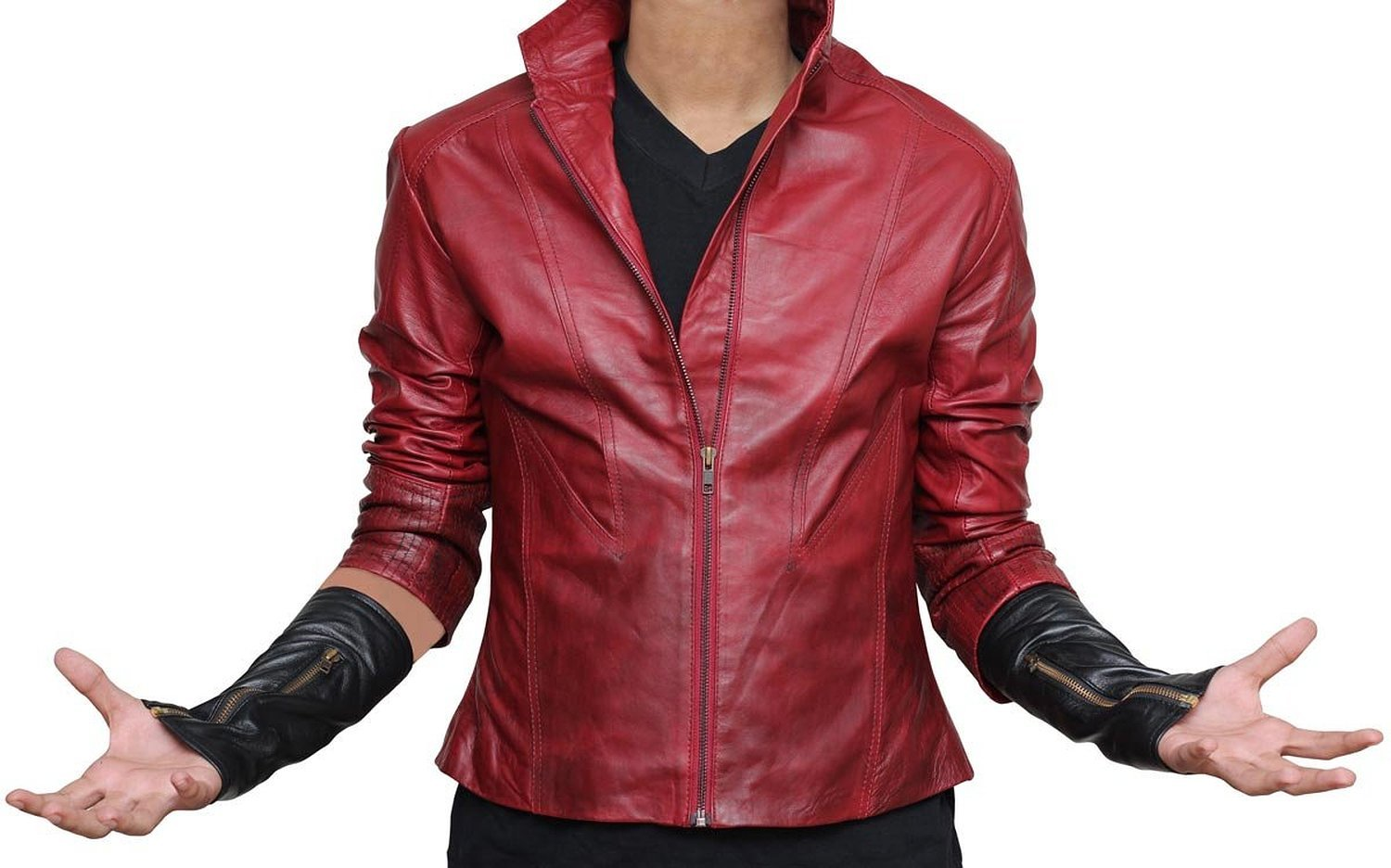 Scarlet Witch Age of Ultron Jacket - Elizabeth Olsen Red Avengers Jacket For Her (XXL, Red) by BlingSoul
