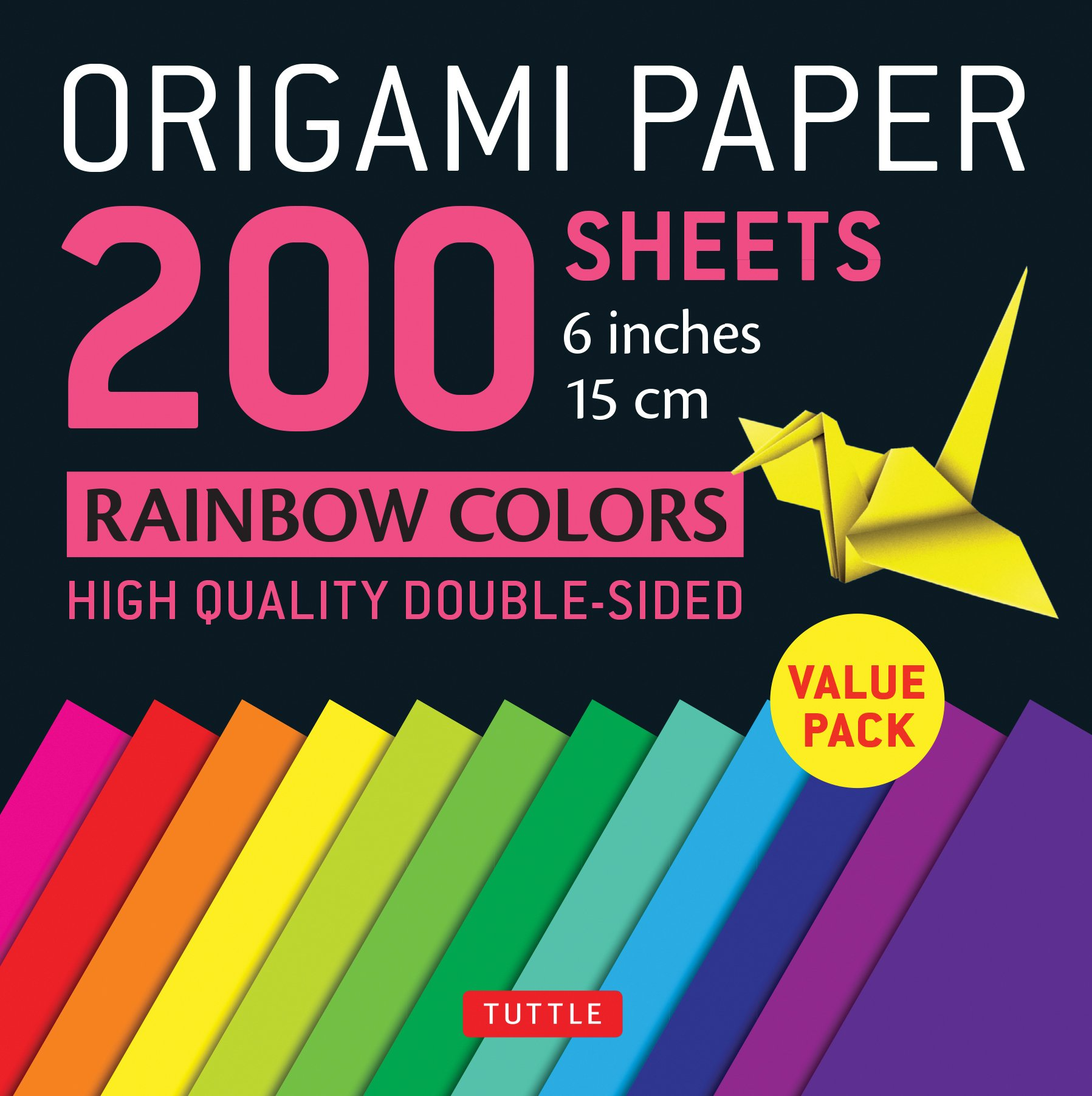 Origami Paper 200 sheets Rainbow Colors 6