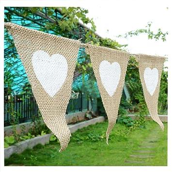 Greatgorgeous Vintage Love Hitze Print Flaggen Hochzeit Garten Party