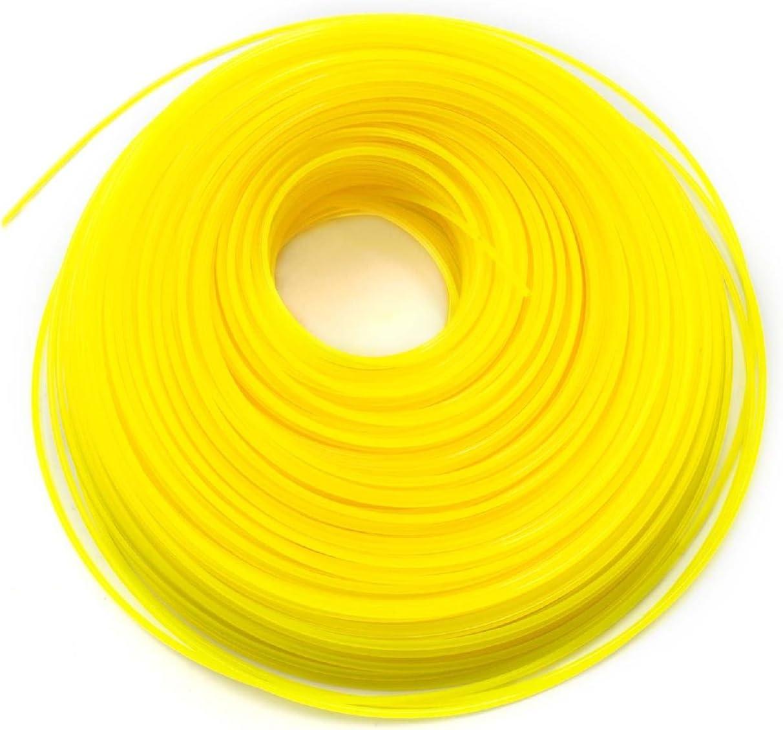 Stihl Makita Husqvarna Wolf Garten Bosch vhbw C/âble de coupe 2mm jaune 100m pour tondeuses /à gazon et d/ébroussailleuses p.ex Einhell Gardena