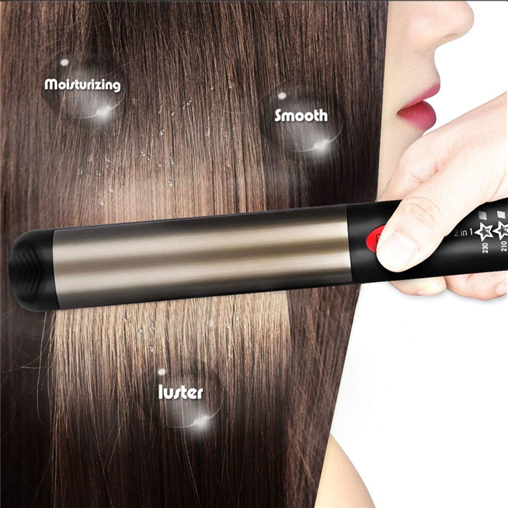 Nano Titanium Hair Straightener,Hair Straightener Nano Titanium Titanium-Plated Ultra-Thin Straightening Iron Hair Curler Styling Tourmaline Ceramic optima 3000 Blue